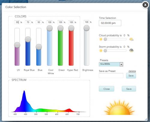 EcoSMART Configuration Screen